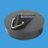 McAlpine PVC Black Basin Waste Plug - 74000363